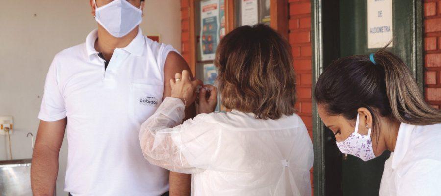 No mês de maio, 900 colaboradores foram vacinados contra a gripe